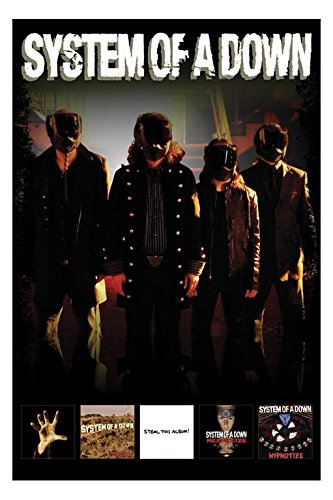 System of a Down - Masked Band - 61 x 91,5 cm Poster/Poster