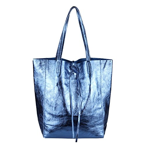 OBC Only-Beautiful-Couture, Borsa tote donna Blu blu metallizzato ca.: 36x40x12 cm (BxHxT) blu metallizzato