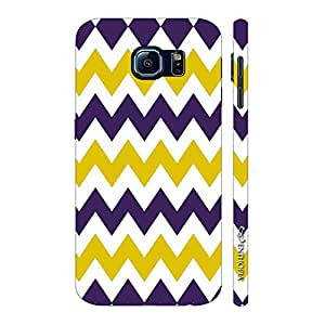 Enthopia Designer Hardshell Case CHEVRON YELLOW AND PURPLE Back Cover for Samsung Galaxy S7 Plus