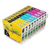 OfficeWorld Reemplazo para Epson T1302 T1302 T1304 Cartuchos de tinta (3 Cian, 3 Magenta, 3 Amarillo) Alta Capacidad Compatible para Epson Stylus B42WD BX525WD BX535WD BX625FWD BX630FW BX635FWD BX925FWD BX935FWD SX525WD SX535WD SX620FW Workforce WF-3010DW WF-3520DWF WF-3540DTWF WF-7015 WF-7515 WF-7525