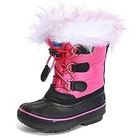 UBELLA Unisex Boys Girls Pull On Drawstring Closure Winter Snow Rain Boots Size: 11M US Little Kid
