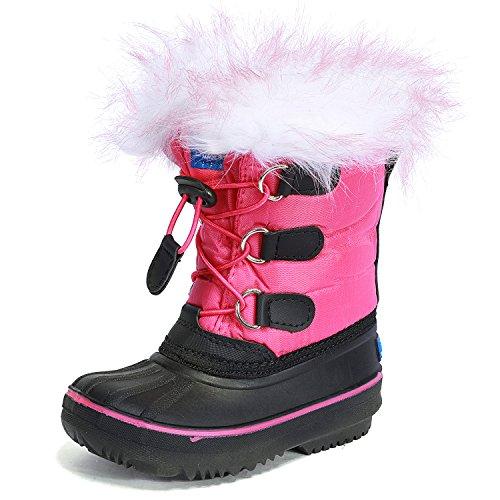 UBELLA Unisex Boys Girls Pull On Drawstring Closure Winter Snow Rain Boots