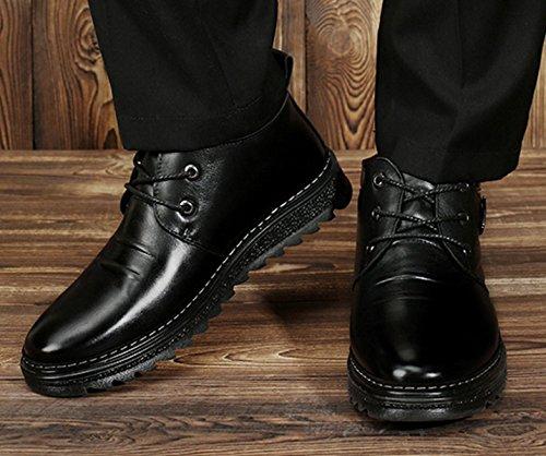 LINYI Bottes De Coton Business Cachemire Chaud Neige Casual Bottes De Plein Air Pour Hommes Black
