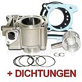 Unbranded 125 CCM Zylinder KOLBEN KIT Set KOMPLETT für Yamaha XQ MAXSTER bis Bj.04 Wasser Zylinderkit