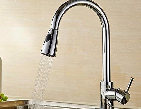AWXJX Cuivre plein de chaud et froid cuisine lavabo d'expansion et de contraction du robinet du réservoir d'eau (41 *