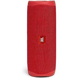JBL Flip 5 Enceinte Bluetooth Portable avec Batterie Rechargeable, Étanche, Compatible Siri et Google, Rouge