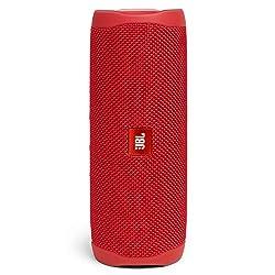 JBL Flip 5 Bluetooth Box (Wasserdichter, portabler Lautsprecher mit umwerfendem Sound, bis zu 12 Stunden kabellos Musik abspielen) rot