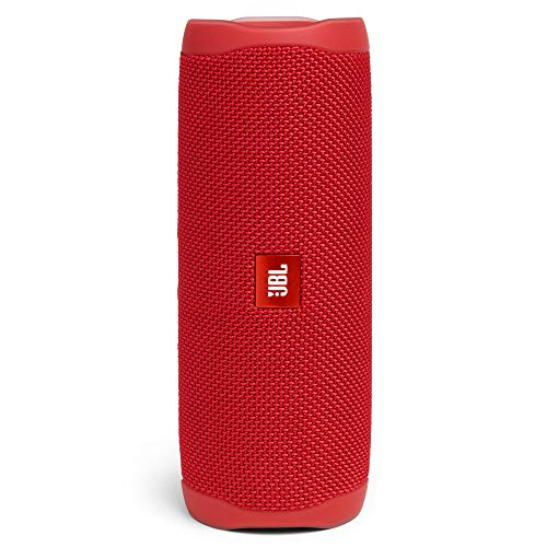 JBL Flip 5 Portable Bluetooth Speaker with Rechargeable Battery, Waterproof, PartyBoost Compatible, Fiesta Red