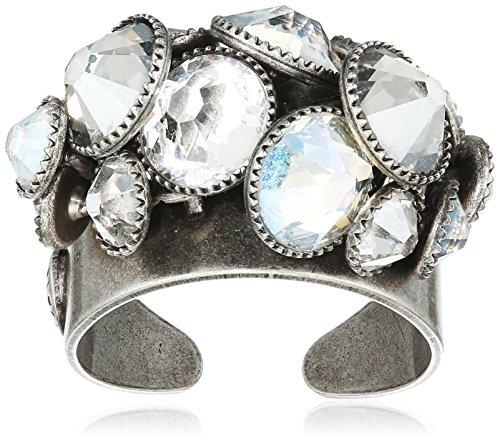 Konplott Damen-Ring Waterfalls Silber Glas weiß Ringgröße verstellbar - 5450527979450