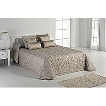 Textilia Zebra - Edredón para cama de 135 cm, 235 x 270 cm, color beige