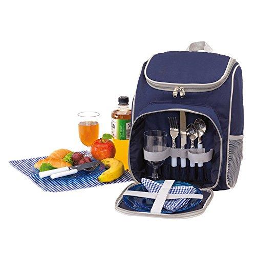 Picknick Rucksack für 2 Personen Leichtgewicht isoliertes Reißverschluss Hauptfach