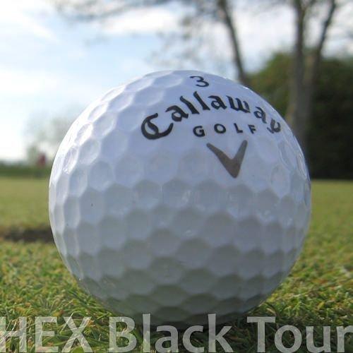25 CALLAWAY HEX BLACK TOUR LAKEBALLS / GOLFBÄLLE - QUALITÄT AAA / AA -