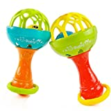 #9: TOY-STATION Hand Bell Rattle Toy[Set Of 2]