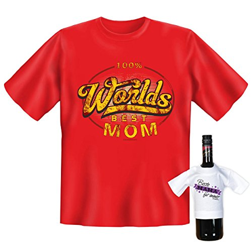 lustiges und super Mama / Mutter T-Shirt -Set Farbe : rot : Worlds BEST MOM Rot