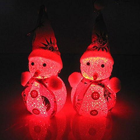 Regalo di Natale decorativo una varietà di surf pupazzo bambola vacanza bagliore con decorazione ornamenti-Natale di qualità comodo decorazione albero di Natale sveglio , 1pcs