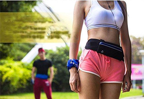 LangTek Hüfttaschen Laufen Beutel Aufbewahrungssack für Jogging Radfahren Camping Draußen Sports Schwarz