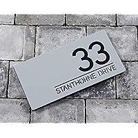Bespoke House Number Door Sign - Landscape Rectangle