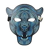 JYCRA LED spaventoso maschera di Halloween, Music LED party Mask Cosplay Glow Light Up maschere, ideale per costumi, feste in maschera, feste, festival, cosplay, Cheetau, 9.8 * 6.7 inch