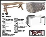 Raffles Covers RT290 Wetterschutzhülle Gartentisch 290 x 100 cm Schutzhülle für rechteckigen Gartentisch, Abdeckhaube für Gartentisch, Gartenmöbel Abdeckung