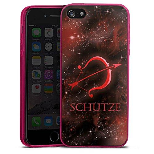 one 5s Slim Case transparent pink Silikon Hülle Schutzhülle Sternzeichen Bogen Pfeil ()