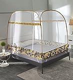 LIQICAI Moskitonetz Einfache Einstellung starker elastischer Stahldraht Insektenschutz-Bettüberdachung, Zwei Arten Zwei Größen Mehrfarbig Optional (Farbe : Camo+Yellow, größe : 1.8 x 2...