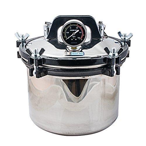 Levin-dental Sterilisator Autoklav 8L Dental Steam Sterilisator Autoklav 220V mit Doppelheizung für Kohle und Elektro