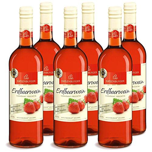 Katlenburger Erdbeerwein Fruchtwein Süß, 6er Pack (6 x 0.75 l)