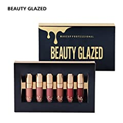 Idea Regalo - Topbeauty, set da 6 pezzi, kit trucco con rossetti opachi a lunga tenuta, rossetti, cosmetici, mini set, Kyshadow Brithday Edition.