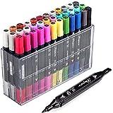 hosal Colored Art Twin Graphic Rotuladores, Sketch Basic Professional Rotuladores de tinta & # xFF0C; perfecto para todos los proyectos de arte y manualidades Scrapbooking Journaling
