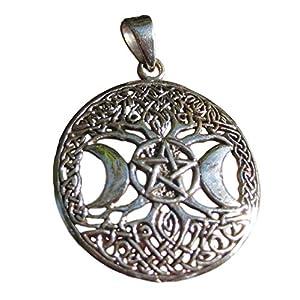 A487 Pentagramm Doppelmond keltischer Anhänger Thailand Schmuck