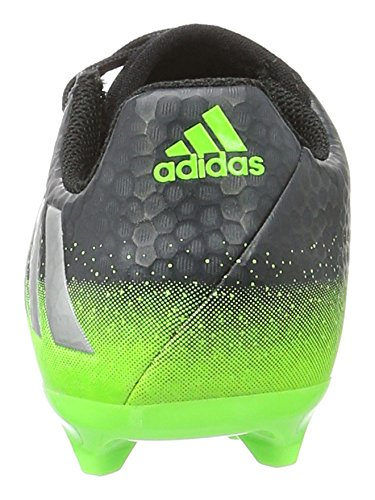 adidas Unisex-Kinder Messi 16.3 Fg Fußballschuhe Grau (Dark Grey/Silver Met./Solar Green)