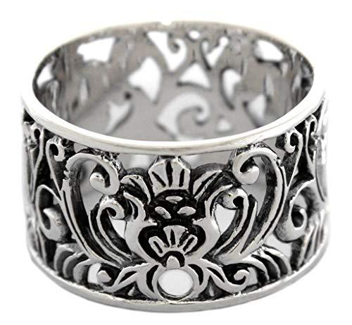 WINDALF Ring ELANIA 1.4 cm Mittelalter Ornamentik 925 Sterlingsilber (Silber, 60 (19.1))