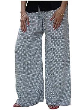 Indian Handicrfats Export DiscountZila Flared Women's White Trousers