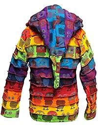 Shopoholic Moderno infantil Duende Coloridos Hippy Rayas Sudadera Con Capucha hippy boho infantil Chaqueta de punto