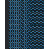 Sketchbook: Geometric Design (Chevron/Blue) 8x10 - BLANK JOURNAL WITH NO LINES - Journal notebook with unlined pages for drawing and writing on blank paper