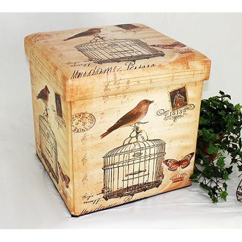 Sgabello in similpelle Seduta-sgabello 2207 Pacco d'imballaggio 40cm Cubo-seduta Cassa Cesto