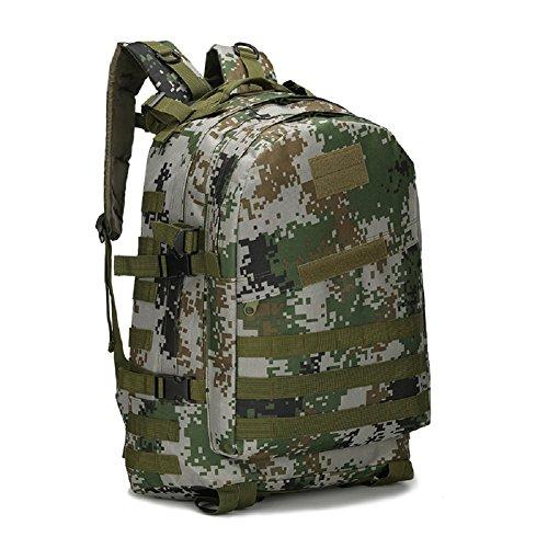 Z&N Military Pack Tarnung taktische Tasche Schultertasche wasserdichte Oxford Bergsteigen Tasche Outdoor Rucksack Sport Rucksack Camping Rucksack Wanderrucksack Multifunktions Großraum Rucksack B