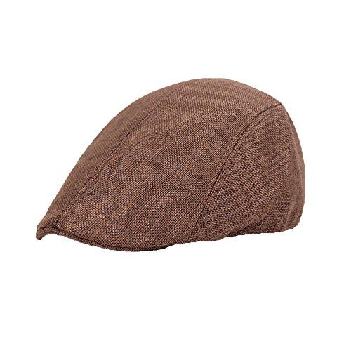 Imagen de hombres beret de algodón plano tapa ivy cabbie newsboy hat otoño verano sombrero  uribaky