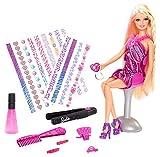 Mattel Barbie BDB19 - Puppe, Fab Life Haar-Tattoo