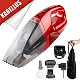 SXGX Auto Hand Staubsauger 220 V 60 Watt Wiederaufladbare Schnurlose Staubsauger Trockenen und Sauberen Staubsauger, Haushalt - Rot (2000 PA)