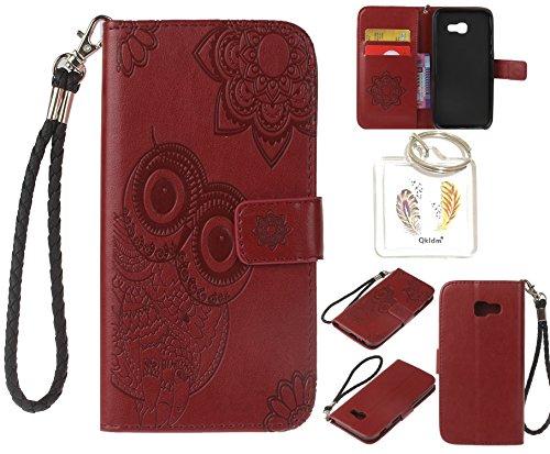 Preisvergleich Produktbild für Samsung Galaxy A5 2017 PU Leder Silikon Schutzhülle Handy case Book Style Portemonnaie Design für Samsung Galaxy A5 2017 A520 5.2'' + Schlüsselanhänger ( RTY (1)