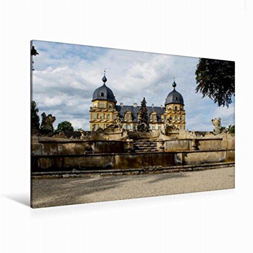 Calvendo Premium Textil-Leinwand 120 cm x 80 cm quer Schloss Seehof bei Bamberg | Wandbild, Bild auf Keilrahmen, Fertigbild auf echter Leinwand, Leinwanddruck Orte Orte