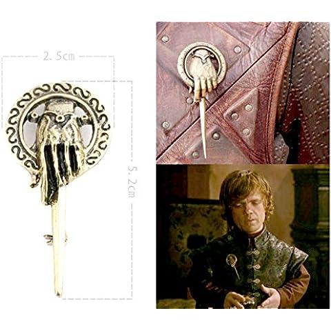 comprar cualquier cartucho de 2GET 1gratis. Juego Tronos broche Pin mano a el rey Tywin Lannister Got dragón Steampunk canción hielo fuego y Metal de solapa Stark plata réplica Unique Fashion joyas plata o dorado doble Vintage caliente tendencia de