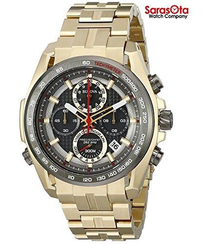 Bulova 98b271chronographe Doré en acier inoxydable à quartz Robe montre homme