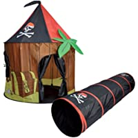 Kids Kingdom Pop-up Pirate Cabin Play Tent & Tunnel