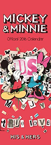 The Official Mickey & Minnie - His & Hers 2016 Slim Calendar (Calendar 2016)