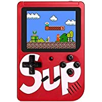 Cabriza SUP Game Box with Mario/Super Mario/DR Mario/Contra/Turtles & Other 400+ Games with Battery Included (Random Colour)