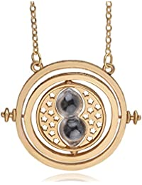 TBOP NECKLACE Harry Potter Jewellary Time Converter Hourglass Alloy Necklace In Black Color