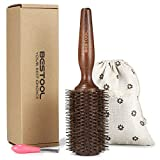 BESTOOL Cepillo de pelo con cerdas de jabalí y nailon para peinar, secar, rizar, agregar volumen y brillo (1.5 inch)
