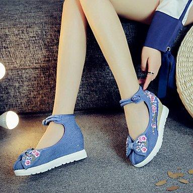 Da donna-Oxford-Tempo libero Casual Sportivo-Comoda Innovativo Scarpe ricamati-Piatto-Di corda-Nero Beige Rosso Blu beige